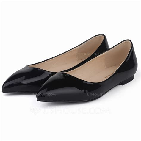 are flats closed toe shoes patent leather flat heel flats closed toe shoes 086058983