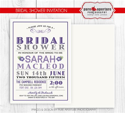 5x7 card psd template 5x7 lavendar purple bridal shower invitation postcard