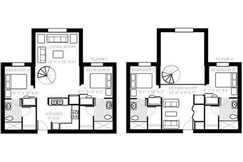 3 Bedroom 3 Bath Floor Plans by Pricing And Floor Plans 187 Northview 187 Ucf