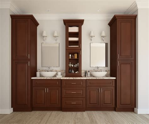 signature chocolate ready to assemble kitchen cabinets signature chocolate ready to assemble bathroom vanities