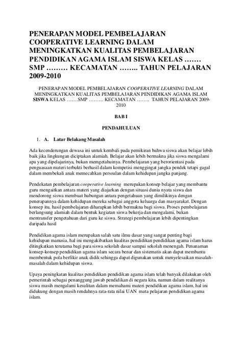 ptk agama islam 2015 contoh ptk