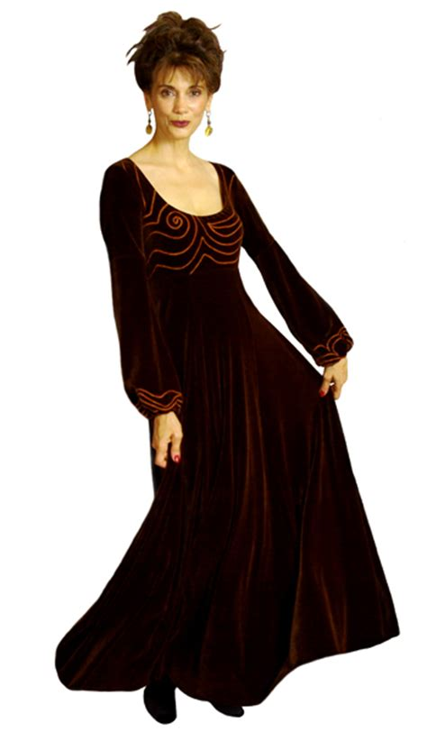Embroidered Velvet Dress Size Sml 15893 elven velvet embroidered velvet gown