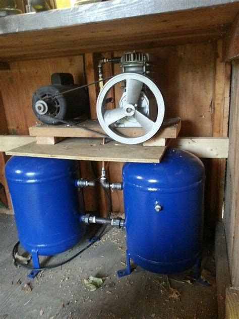 35gal air compressor completed plans for the shop guns and
