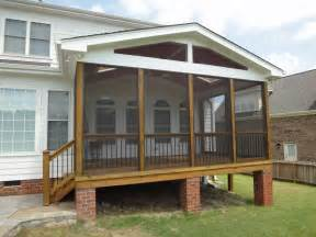 Pictures Of Screened In Decks Raleigh Screen Porch Brick Columns From Cary Deck Screen