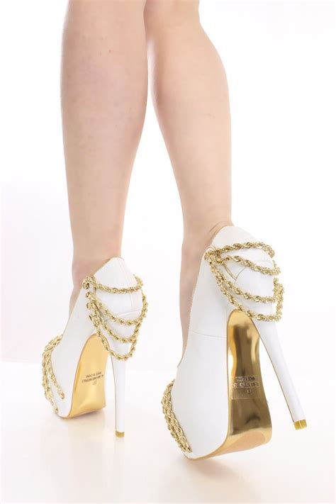 Sweet Heels gold and white great combination i do day