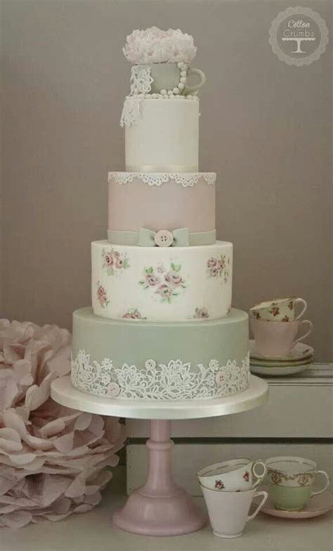 25 best ideas about shabby chic cakes on pinterest blue petite wedding cakes shabby chic