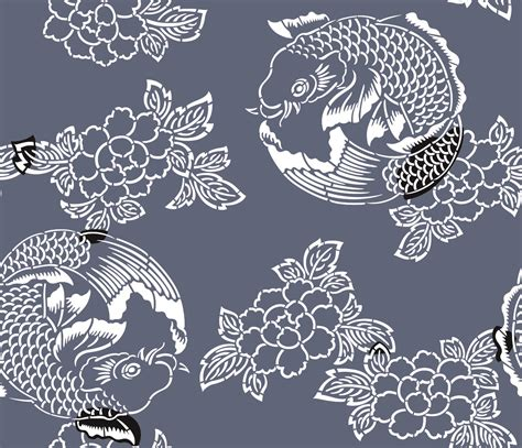 japanese koi pattern wallpaper japanese carp wallpaper
