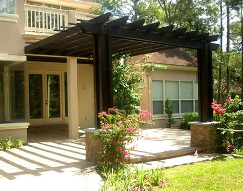 how to build a pergola attached to the house my pergola plans attached house