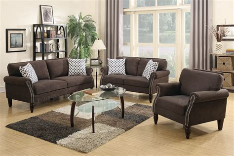 sofa loveseat and chair set hypnos brown fabric sofa loveseat and chair set a
