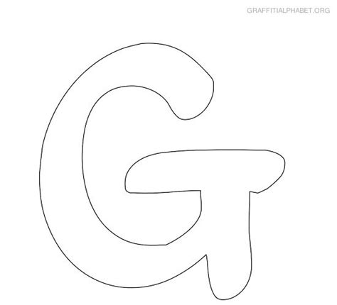 large printable letter g 4 best images of large printable bubble letter g letter