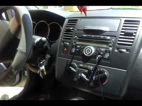nissan tiida interior 2009 nissan tiida blanco emotion 2009 mp4 youtube