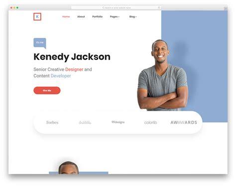 23 Free Portfolio Website Templates For All Creative Professionals 2019 Simple Professional Website Templates