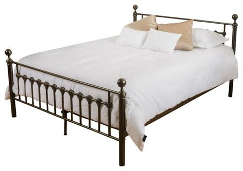 Panel Bed Frame Gdfstudio Bradford King Size Iron Metal Bed Frame Panel