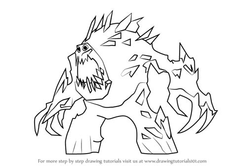 snow monster coloring page frozen marshmallow drawing