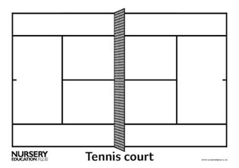 tennis court template tennis court early years teaching resource scholastic