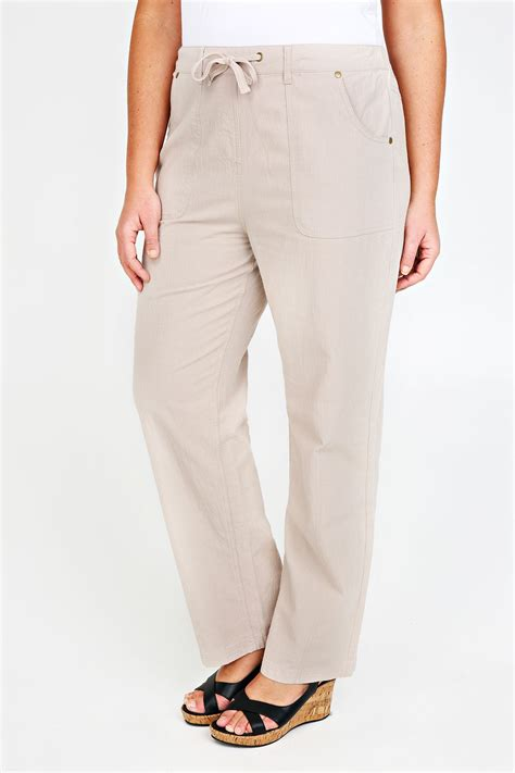 Small And Imperfectly Formed Trousers by Beżowo Szare Długie Bawełniane Spodnie