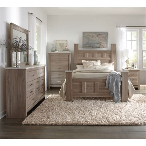 wood bedroom furniture sets art van 6 piece queen bedroom set overstock shopping