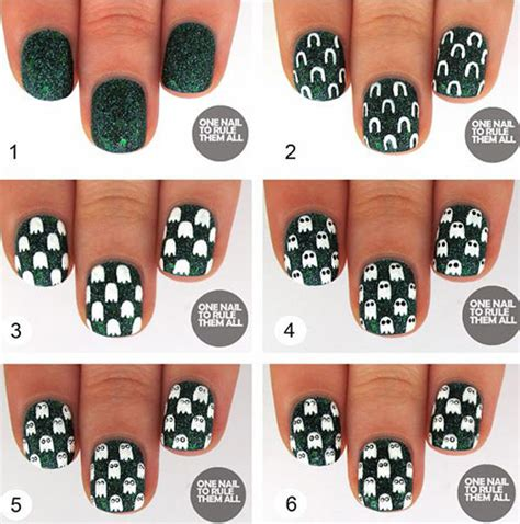 easy nail art step by step for beginners 20 easy step by step halloween nail art tutorials for