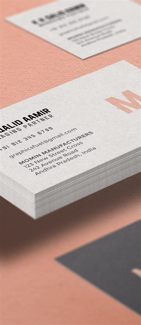 Business Cards Templates Front And Back Psd by Business Card Mockup Psd Graphicsfuel