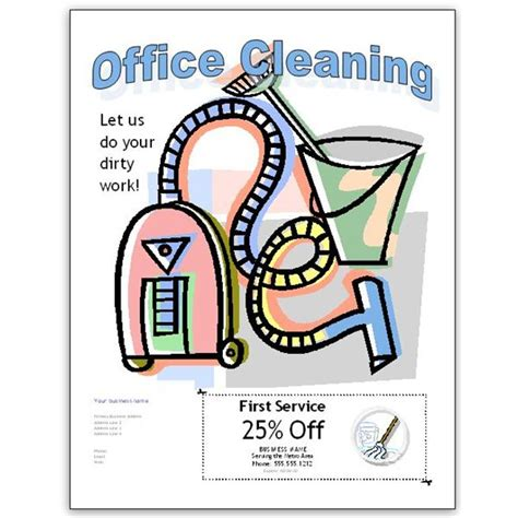 cleaning flyers clipart