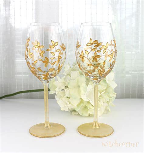 gold barware wine glasses wedding glasses gold toasting glasses gold