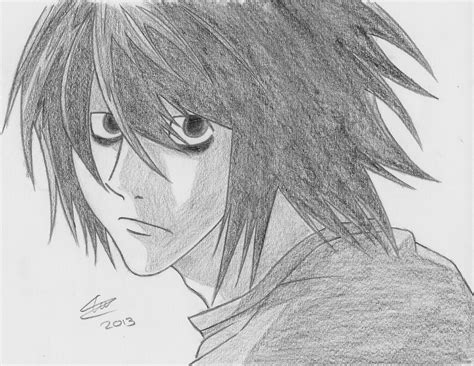 Death Note L Drawing by The-Avaricious on DeviantArt L Death Note Drawing