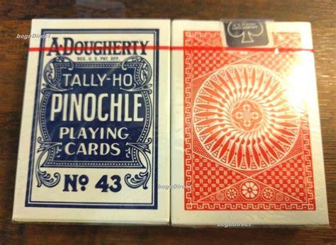 decks  dougherty tally ho pinochle playing cards  linoid finish ohio  ebay