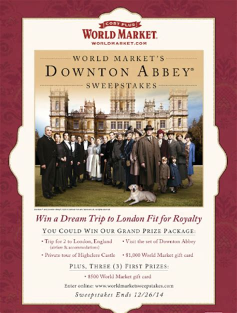 Downton Abbey Sweepstakes - downton abbey fans join us for the dothedownton virtual tea party