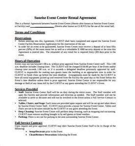 Event Rental Agreement Template by Simple Rental Agreement 10 Free Documents In