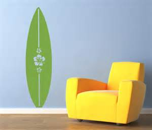 hibiscus surfboard wall decals trading phrases surf board decor surfer girl themed bedroom pinterest