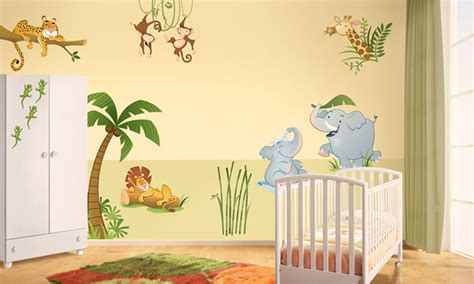 chambre jungle enfant chambre b 233 b 233 la jungle leostickers