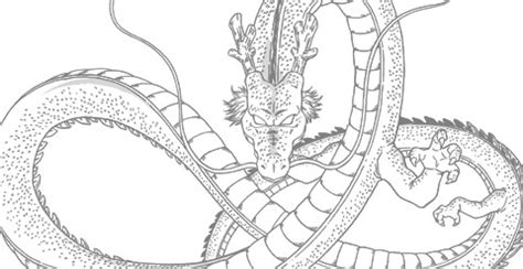 dragon ball z shenron coloring pages shenron no color by mrquatrario on deviantart