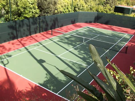 tennis court resurfacing pickleball construction