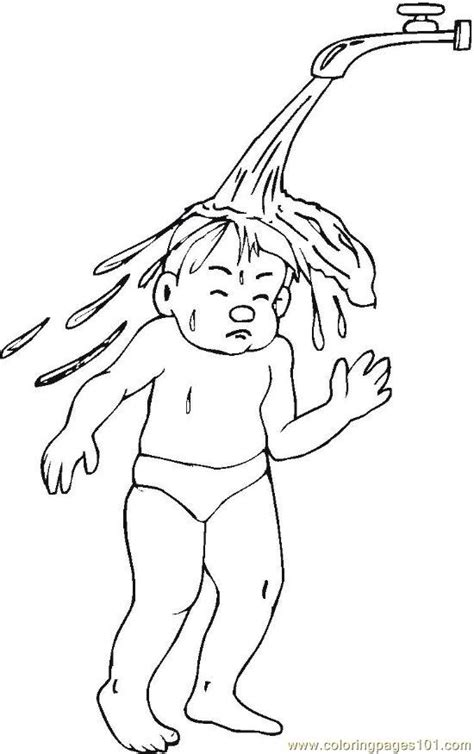 free hygiene habits coloring pages