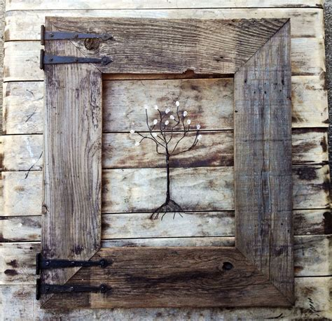 image of simple rustic picture frames diy