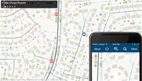 map change request arcgis solutions  electric
