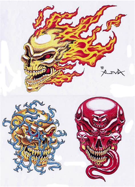 design a tattoo online free skull designs