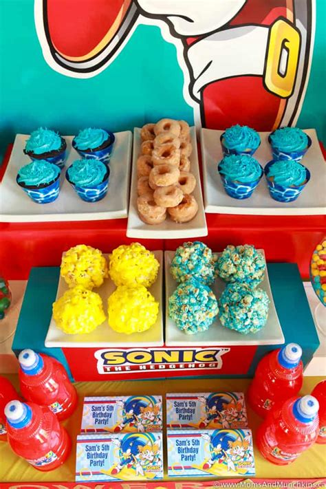 sonic  hedgehog party ideas moms munchkins