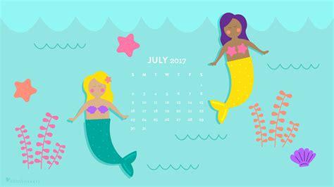 july  mermaid calendar wallpaper sarah hearts