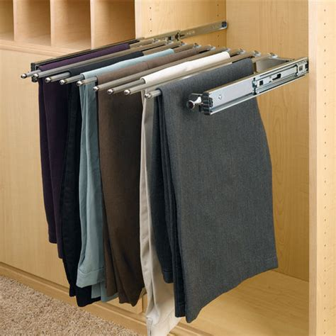 Pant Rack For Closet by Rev A Shelf Closet Or Wardrobe Chrome Pull Out Rack