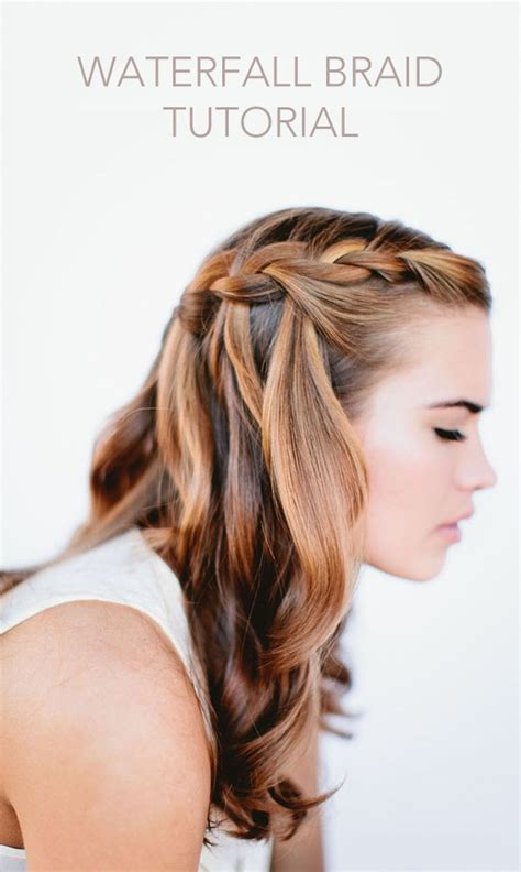 braid hairstyles for long hair wedding waterfall braid wedding hairstyles for long hair once wed