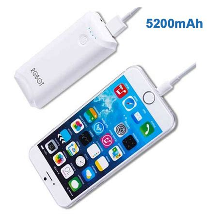 Power Bank Robot Rt5700 5200 Mah White jual robot powerbank 5200mah rt5600 white merchant