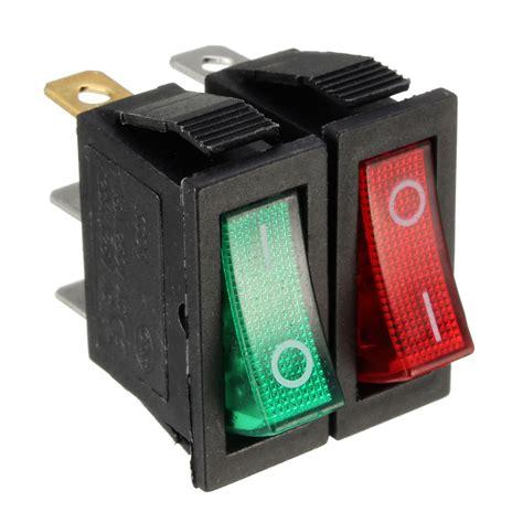 large rectangle rocker switch led lighted car dash boat 3