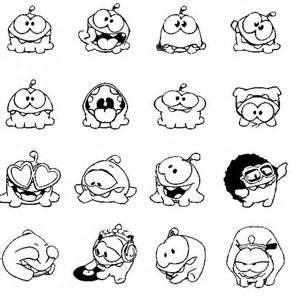 nom nom coloring pages free coloring pages of how to draw om nom