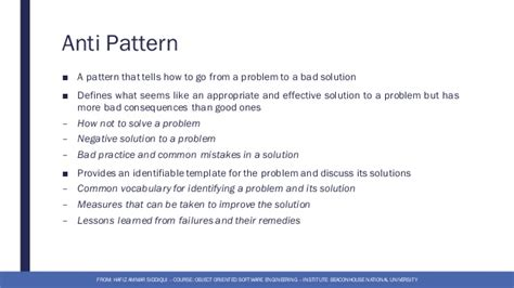 design pattern in object oriented software engineering 3 software anti design patterns object oriented software