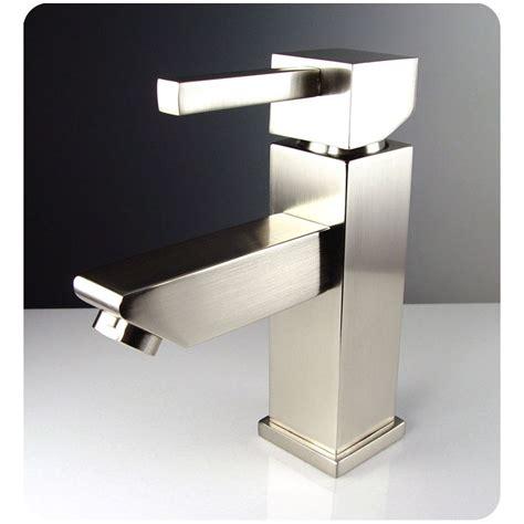 Vanity Faucets Single by Fresca Versa Single Mount Bathroom Vanity Faucet
