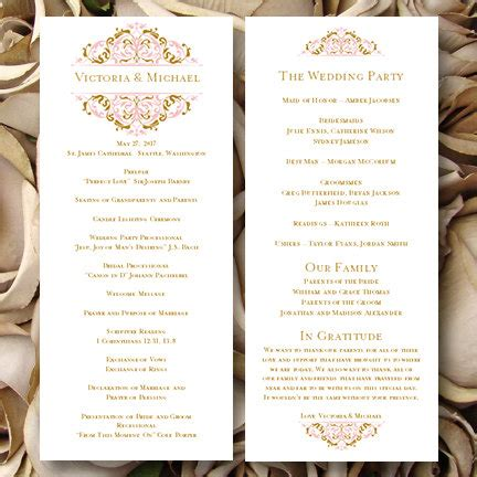 Wedding Ceremony Length by Wedding Ceremony Program Template Tea Length Grace
