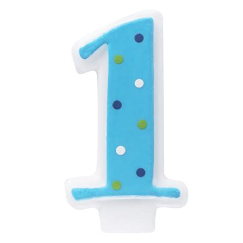 Dots Number Candle blue 1 candle with polka dots birthdayexpress