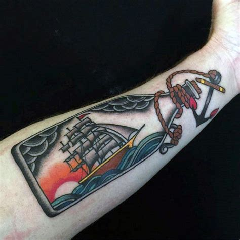 ship in a bottle tattoo 60 ship in a bottle designs for maritime