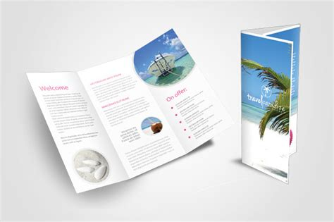 travel agency tri fold brochure templates on creative market